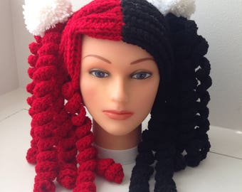 Harley Quinn Wig Cosplay Halloween hat