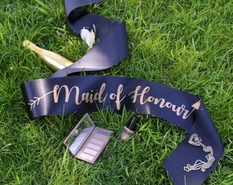 Maid of Honour Sash - Bride Tribe Hen Party Range - Other Matching Sashes Available