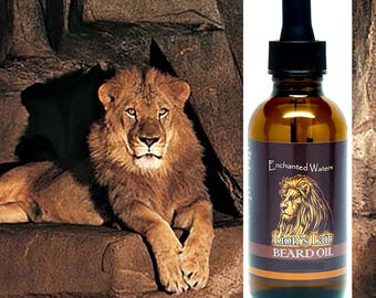 Beard Oil by Lion's Lair - Premium Beard / Mustache Conditioner Grooming Oil  -  This Premium Oil moisturizes facial hair & skin beneath