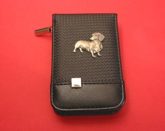 Dachshund Dog Black Faux Carbon Fibre Manicure Set Beauty Travel Kit Dog Vet Mother Father Gift Christmas Gift