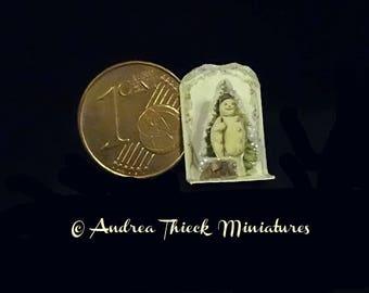 Glittered  Miniature 3D Snowman Display  1/12 scale