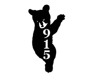 Personalized Bear Address Metal Sign - Custom Bear Address sign