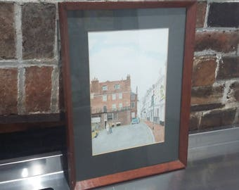 The Lower Walk' 1984 Original Watercolour Tunbridge Wells Kent