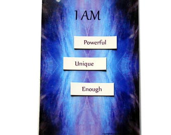 Mantra Kit, Intention Magnets, Body Beautiful Affirmation, magnetic words for fridge, gift for her, help with confidence, daily meditation