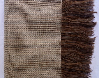 Alpaca and Wool Throw Blanket, Our Brownsweave Throw is Luxurious, Natural and Eco-Friendly