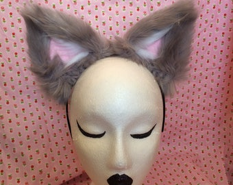 Grey Cat Ears - Cosplay ~ Kawaii ~ Furry