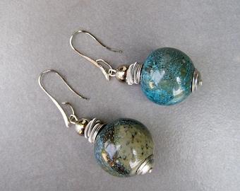Bubble glass earrings-Blown glass earrings-Murano glass earrings-Mondo collection