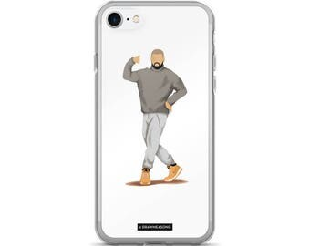 Hotline Bling Drake iPhone 7/7 Plus Case, Dance Tutorial Illustration, Fun Pop Art, Dance Music Funny Drawing, Fan Art (1)