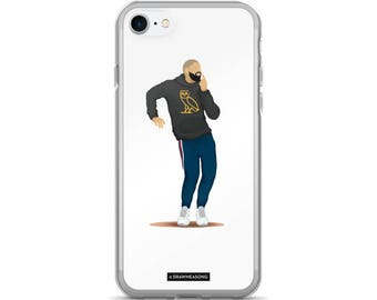 Hotline Bling Drake iPhone 7/7 Plus Case, Dance Tutorial Illustration, Fun Pop Art, Dance Music Funny Drawing, Fan Art (2)