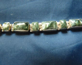 Sterling Silver or better (.950)Jasper Bracelet