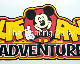 Disney scrapbooking, Disney die cut, Disney California, Disneyland, California Adventure scrapbooking, die cut title for scrapbooking