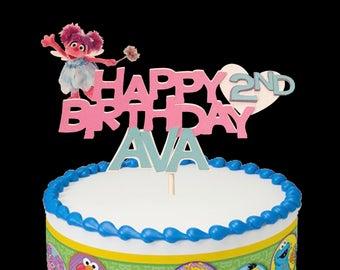 Abby Cadabby Birthday Cake Topper, Abby Cadabby Cake topper, Abby Cadabby Centerpiece,  Sesame Street Cake Topper, Sesame street banner