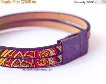 1000 SALES Bracelet, Boho Ethnic Leather Cuff Bracelet (7 inches)