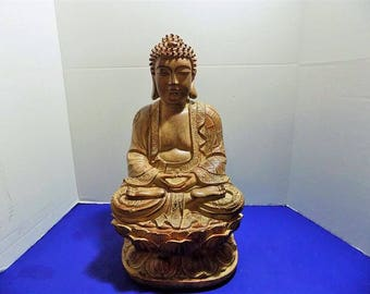 NEW Rare Resin PVC  Large Buddha Sculptures Figurines Asian Zen Thai Oriental Spiritual Religious Hindu