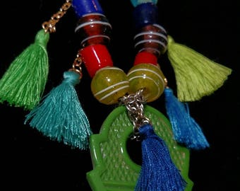 African Talhakimt Trade Bead necklace.