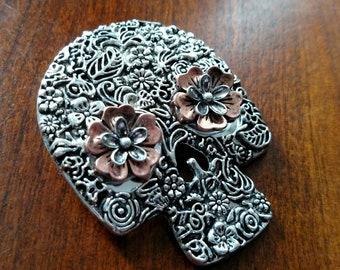 Carved Skull Hair Jewelry