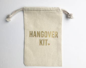 Hangover Bag **READY TO SHIP** Gold Heart Bachelorette Hangover Kit Bag