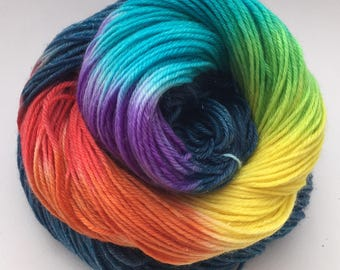 Sparkle Rainbow Sock Yarn