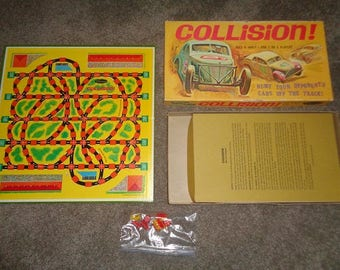 Board game,Collision,car race game in the box nice &  made in the USA