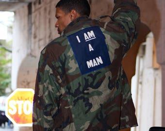 I AM A MAN - Camo Army Field Jacket Sz Large Regular