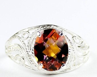 On Sale, 30% Off, Twilight Fire Topaz, 925 Sterling Silver Ladies Ring, SR083