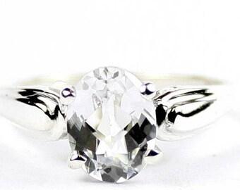 On Sale, 30% Off, Silver Topaz, 925 Sterling Silver Ring, SR058