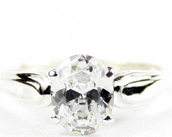 On Sale, 30% Off, Cubic Zirconia, 925 Sterling Silver Ring, SR058