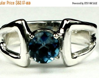 On Sale, 30% Off, London Blue Topaz, 925 Sterling Silver Ring, SR307