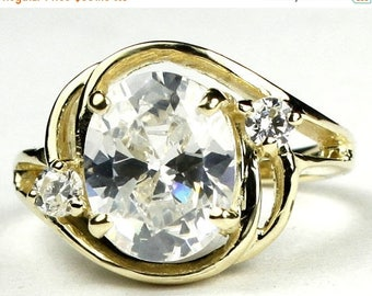 On Sale, 30% Off, Cubic Zirconia (CZ), 14KY Gold Ring, R021