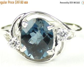 On Sale, 30% Off, London Blue Topaz, 925 Sterling Silver Ladies Ring, SR021