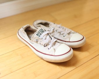 vintage converse all star white sneakers womens 8