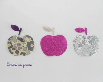 Applied fusible apples to eat liberty betsy Pebble grey