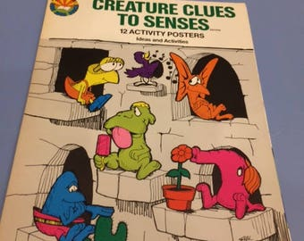 Creature Clues to Senses  12 Activity Posters for Learning Educational