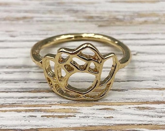 Gold Lotus Ring