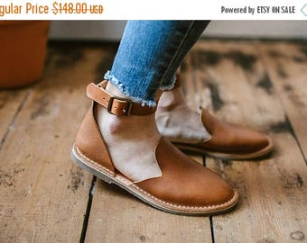 SALE 25% OFF: Leather Shoes, Leather Sandals, Light Brown Sandals, Women Sandals, Loafers, Flat Shoes, Women Shoes, Summer Shoes, Slip Ons
