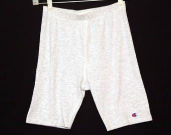 Vintage 80s spandex shorts champion heather gray