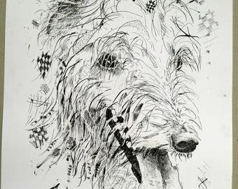 Pet portraits in pen and ink