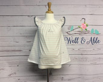 First day of school flutter sleeve top