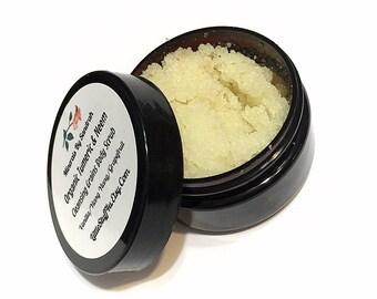 TUMERIC & NEEM Sea Salt Body Scrub Cleansing Grains - Sea Salt/Neem/Vanilla/Ylang Ylang/Grapefruit