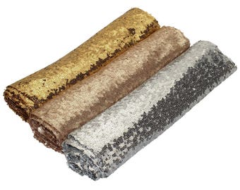 Gold Silver Champagne Sequin Table Runner Wedding Sparkly Bling Party Reception Decoration Supplies
