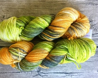 Goonies Never Say Die - Superwash Merino Hand Dyed Yarn - Worsted Weight Yarn - Hand Dyed Yarn