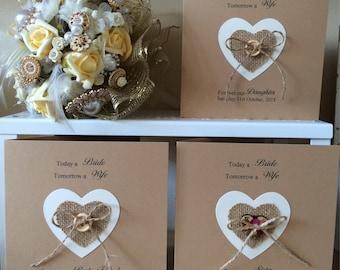 Wedding Day Card Daughter Sister Best Friend personalised