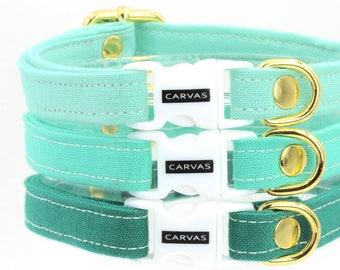 Greens Cat Collars with Breakaway Safety Buckle - Sea Foam, Turquoise, Willow Green - Kitten Size Available