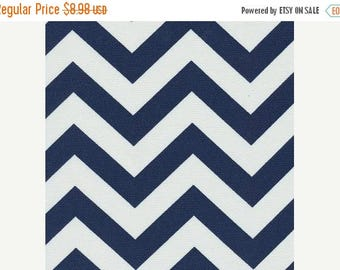 SHIPS SAME DAY Navy Blue and White Chevron Outdoor Fabric - Zig Zag Navy Outdoor Fabric - Fabric by the yard