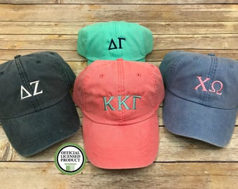 Sorority baseball hat, sorority hat, monogram hat, sorority monogram hat, hat, baseball hat, greek, chi omega, delta zeta, kappa kappa gamma