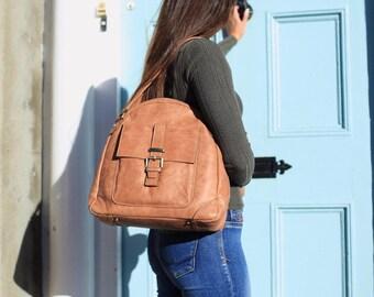 SALE Tan Leather Bag / Tan Leather handbag / Leather Purse / Tan Messenger Bag / Leather Bag / Leather Handbag / Tan Leather Purse