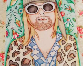 Kurt cobain original drawing