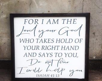 Isaiah 41:13 sign