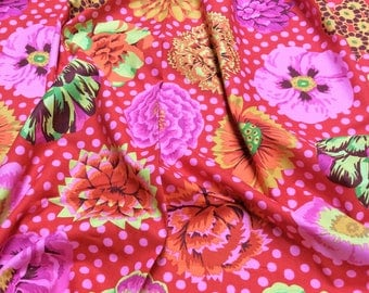 Kaffe Fassett Collective Big Blooms GP91 Red Free Spirit Fabric