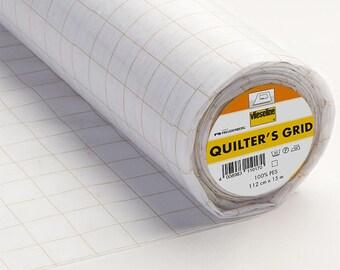 Half Metre x 112 cm Quilters Grid Vlieseline® Vilene® Iron on Fusible Non Woven